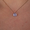 Faceted Natural Blue Chalcedony Zen Gems Necklace