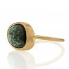 Green Tourmaline 18k Yellow Gold Large Ring