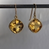 Citrine 18k Gold Dangle Earrings