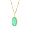 Spectacular Oval Emerald Pendant (Chain Sold Separately)
