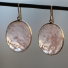 Rose Quartz Oval Gold Cabachon Earrings