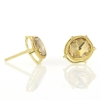 Gold Rose Cut Diamond Post Stud Earrings