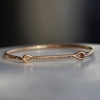 Needle Eye Rose Gold Cuff with Champagne Diamonds