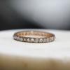 Vintage Rare Russian Rose Cut Diamond Eternity Band