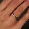 14k Channel Set Ruby Ring
