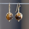 Tigers Eye Egg Earrings