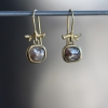 Raw Diamond Gold Earrings