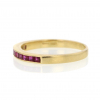 18k Yellow Gold Channel Set Ruby Band