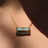 Boulder Opal and Emerald Ziggurat Necklace