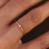 Rose Gold Etched Band with Diamond