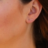 Rose Gold Diamond Ear Climber Stud Earrings