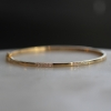 Yellow Gold Hinged Bangle with Diamonds
