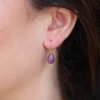 Pink Sapphire 18k Egg Earrings