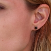 Rose Cut Hematite Stud Earrings