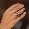 Corteccia Rose Gold Diamond Ring