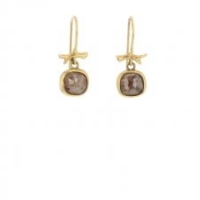 Raw Diamond Gold Earrings Image