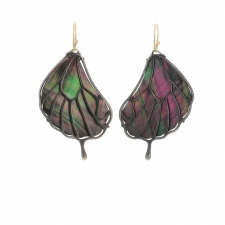 Pampion Wing Oxidized Silver Earrings Image