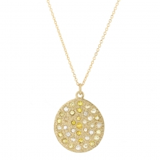 Mars Gold Diamond Disc Necklace Image