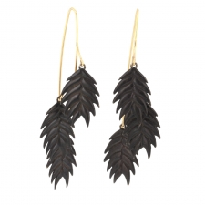 Wild Oat Grass Oxidized Earrings Image