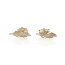 Silver Feather Tiny Studs Image