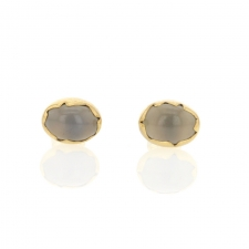 Blue Chalcedony Egg Studs Image