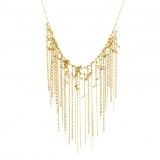 Falling Dots Gold Fringe Necklace Image