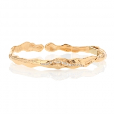Diamond Hinged 18k Rose Gold Cuff Image