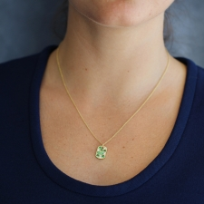 Green Garnet and Diamond Necklace Image