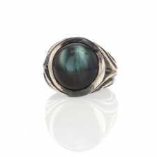 Labradorite Unique Silver Ring Image