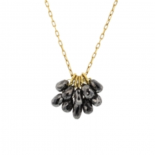 Black Diamond Gold New Cluster Necklace Image