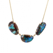 Triple Australian Boulder Opal Necklace Image