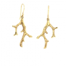 Gold Coral Stick Earrings Image
