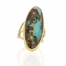 Large Opal Branch Gold Ring Image