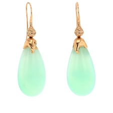 Chrysoprase and Diamond Earrings Image