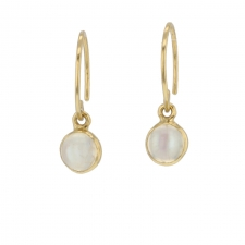 Moonstone Mini Hoop Dangle Earrings Image
