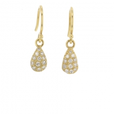 Pave Gold Tear Drop Earrings Image