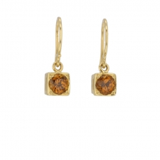Garnet Square Earrings Image