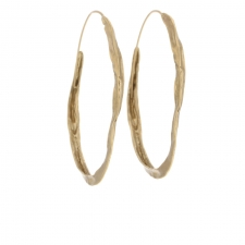 Medium 10k Gold Crinkle Hoops Image