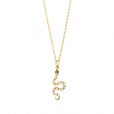 Little Snake Yellow Gold Diamond Necklace Image