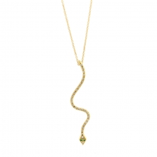 Lucky Snake Diamond Necklace Image