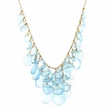 Aquamarine Gold Luxe Cluster Necklace Image