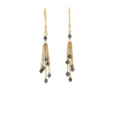 Hematite Tassle 18k Earrings Image