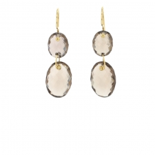 Double Smoky Quartz Oval Drop Earrings Image