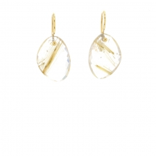 Faceted Rutilated Quartz Earrings Image