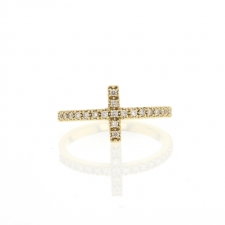 Pave Diamond Cross Ring Image
