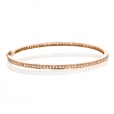 Rose Gold 10k Diamond Bangle Image
