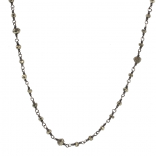 Faceted Blackened Pyrite Chain Image