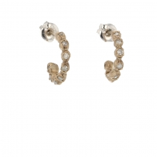 Delicate White Gold Diamond Hoops Image