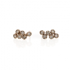 White Gold Diamond Cluster Studs