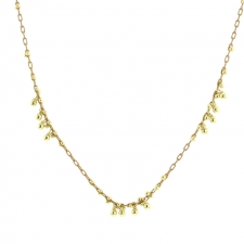 Gold Beaded Multi Cluster Necklace Image